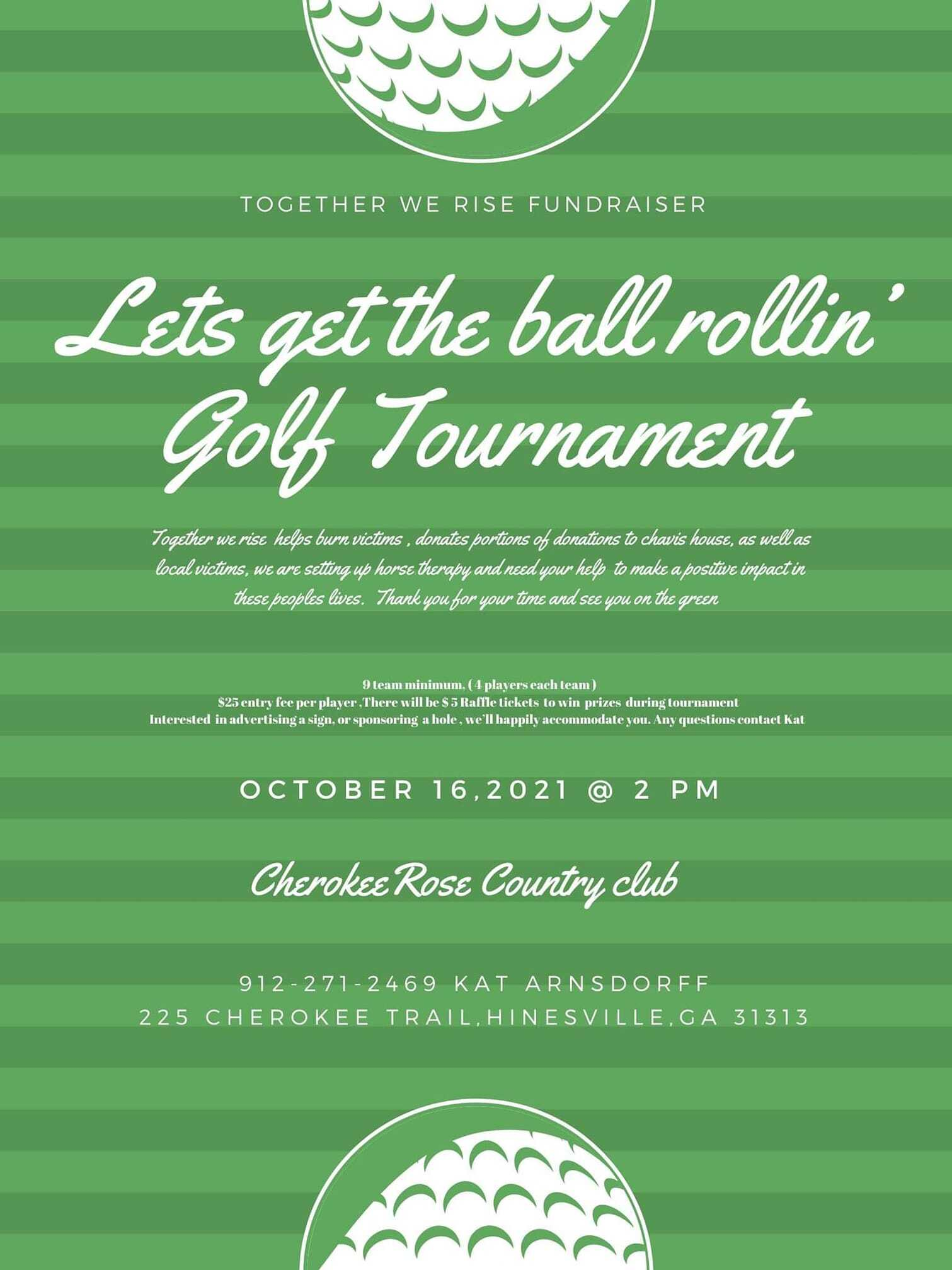 Lets Get the Ball Rollin Golf Tournament