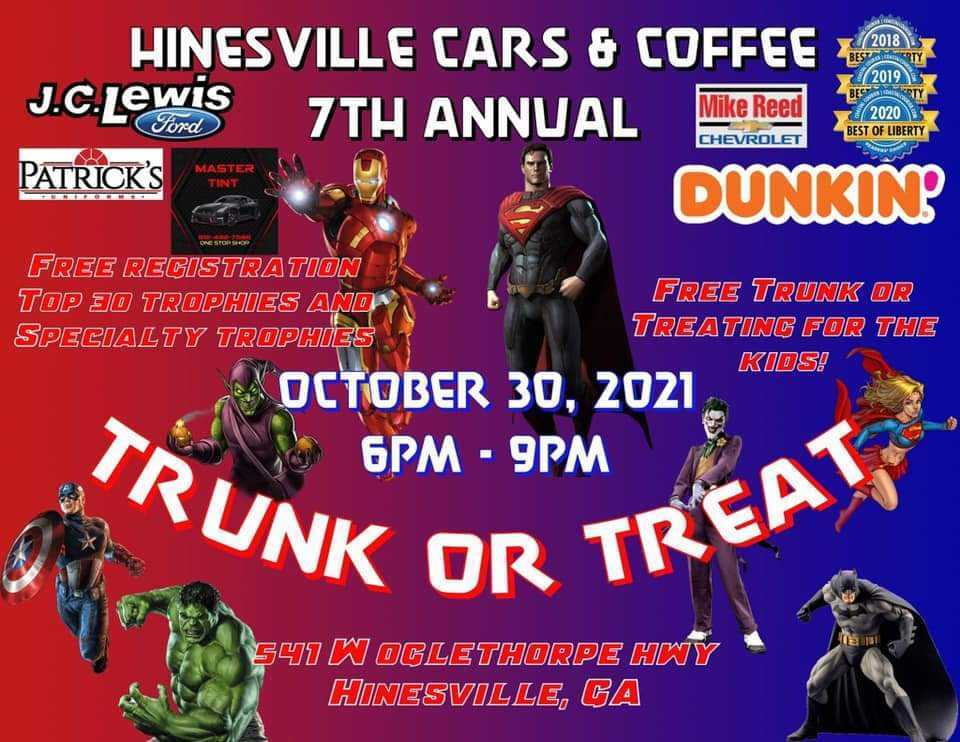 Hinesville Cars and Coffee 7th Annual Trunk or Treat