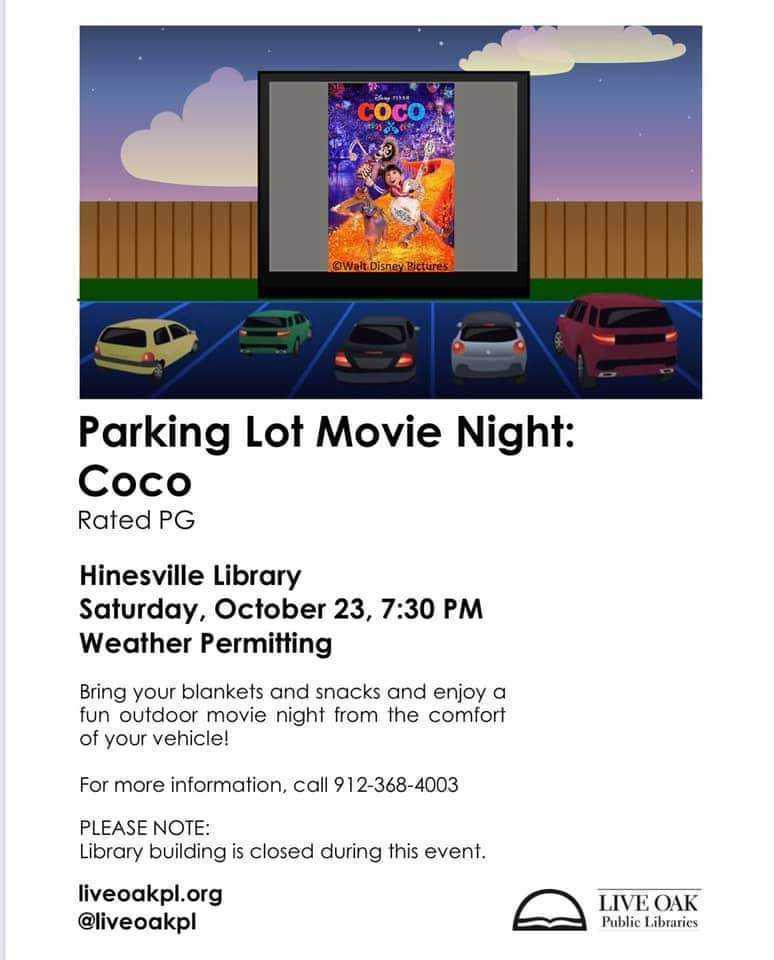 Live OAk Public Library October Events